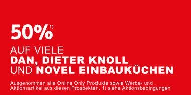 50% auf DAN, Dieter Knoll und Novel Einbauküchen