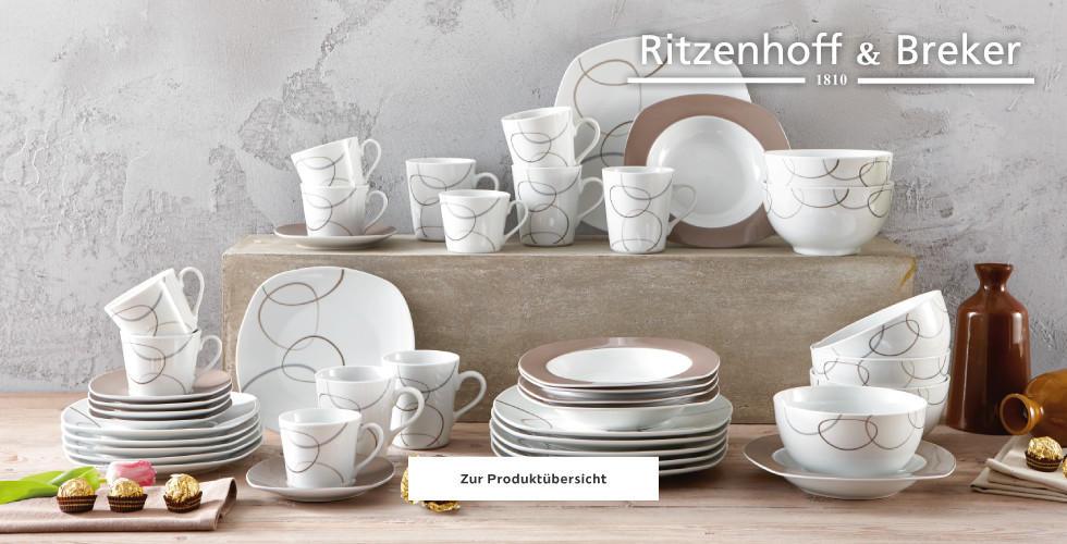 Ritzenhoff Brekter Tafelservice braun weiß Muster