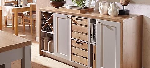 Landhausküche romantisch Sideboard Kommode Holz