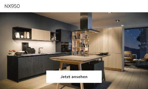 elegante Küche in schwarz Holz Next NX950