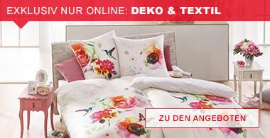 exklusiv nur online: Deko & Textil