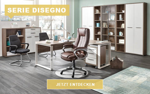 Büro Disegno grau weiß