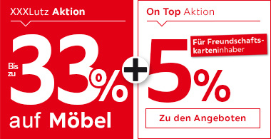 33% auf Möbel + 5% für Freundschaftskarteninhaber