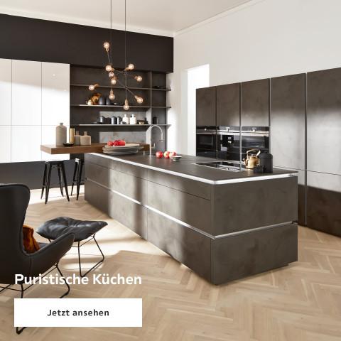 Puristische Küchen schwarz