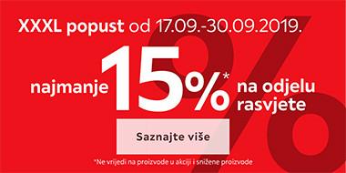 15% popusta na rasvjetu u Lesnini