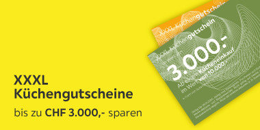 Mit XXXL Küchengutschein bis zu 3.000.- sparen