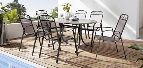 metalni vrtni stol i stolice