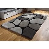 crno-sivi tepih čupavac