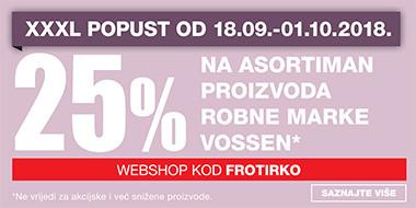 25% popusta na asortiman Vossen u Lesnini
