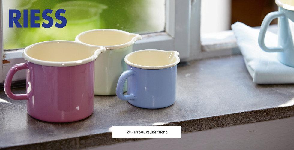 Farbenfrohe Produkte von Riess entdecken