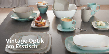 Vintage Optik am Esstisch
