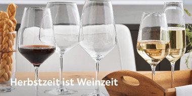 Herbst Weinzeit Weingläser