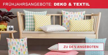 Frühjahrsangebote: Deko & Textil