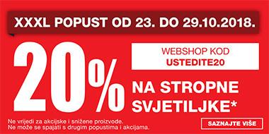 20% na stropne svjetiljke u Lesnini