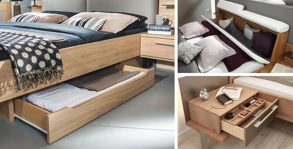 Entdecken Sie die Betten mit Bettkasten und weiteren Staumöglichkeiten bei XXXLutz.
