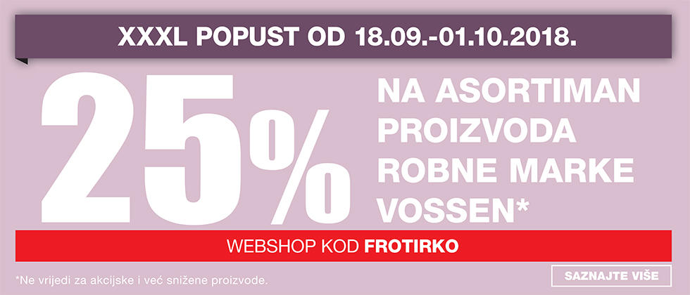 25% popusta na Vossen u Lesnini