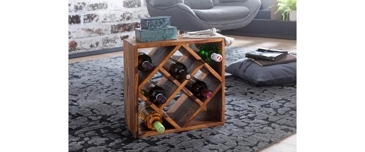Weinregal aus Akazienholz online bestellen
