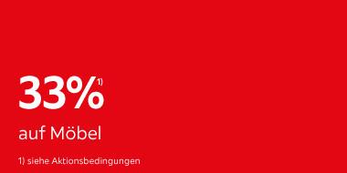 33% auf Möbel