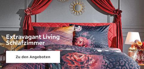 Extravagant Living Schlafzimmer Bett Rot Grau