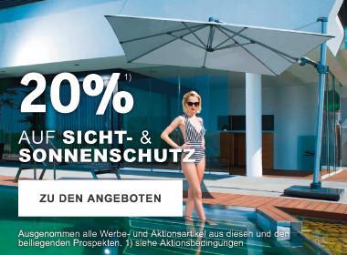 20% auf Sonnenschutz und Sichtschutz