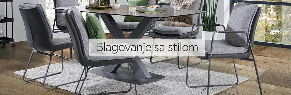 Elegantne stolice i moderan stol za blagovaonicu Lesnina XXXL