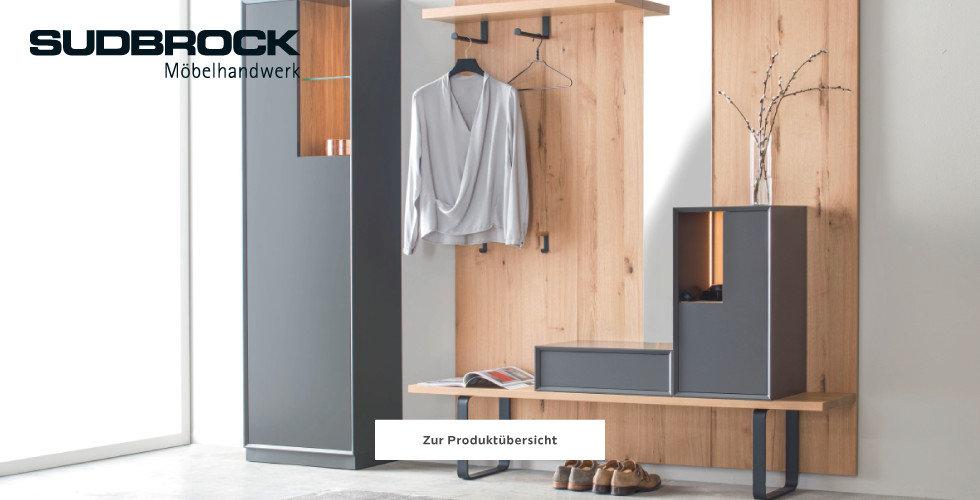 Sudbrock Garderobe Holz Braun