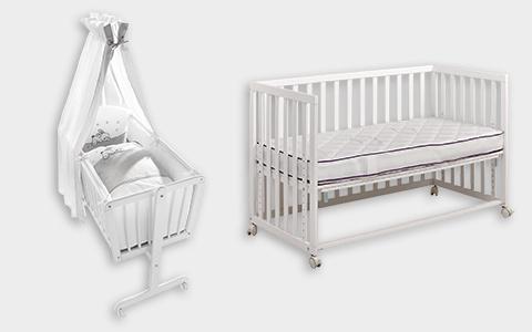 Babywiege und Beistellbett