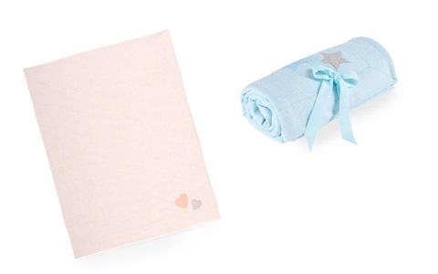 Schmusedecken in blau und rosa von PATINIO