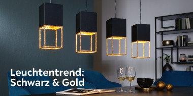 Leuchtentrend: Schwarz & Gold