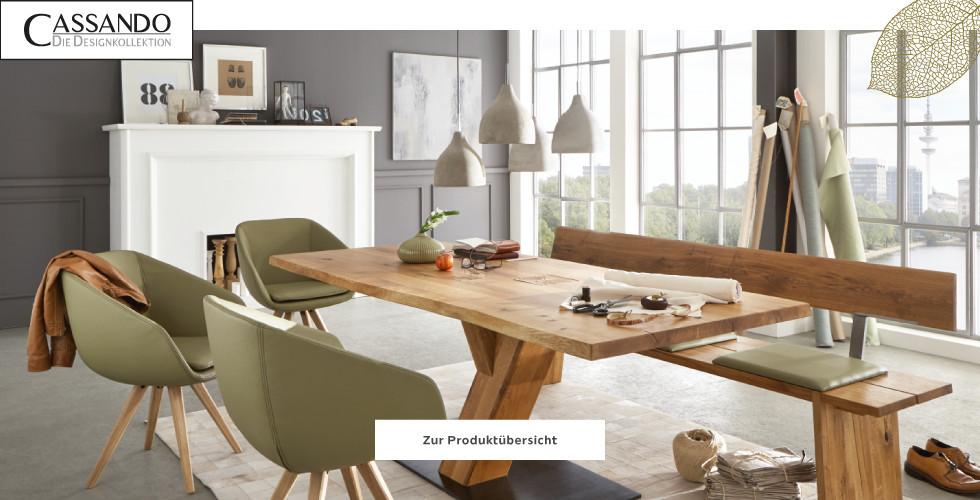Cassando Holztisch Sessel grün