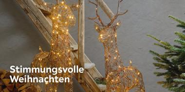 Stimmungsvolle Weihnachtsbeleuchtung