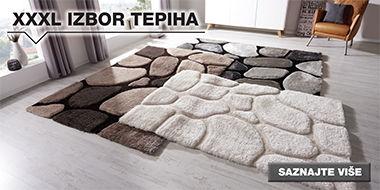 XXXL izbor tepiha u Lesnini