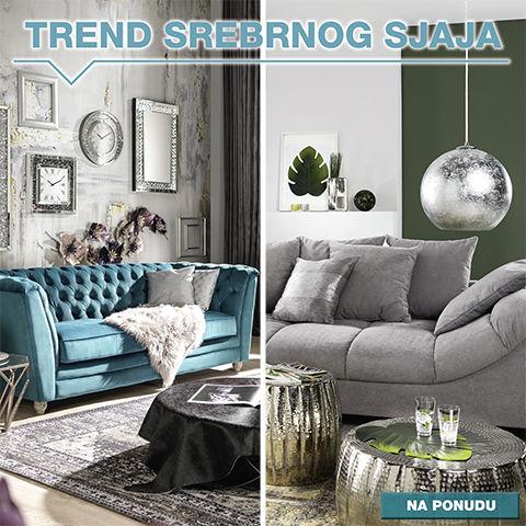 trend srebrne boje u interijeru