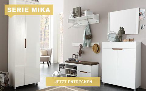 Garderobe Mika weiß hochglanz