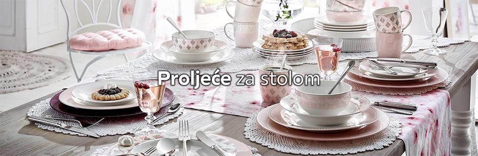 Romantičan i elegantan kombinirani servis za jelo Lesnina XXXL