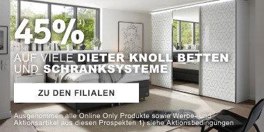 45 Prozent auf ausgewaehlte Dieter Knoll Betten Schrankssysteme