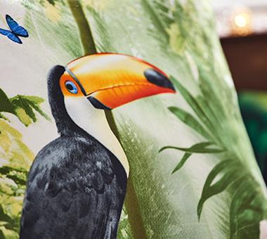 Bettwäsche mit Papagei