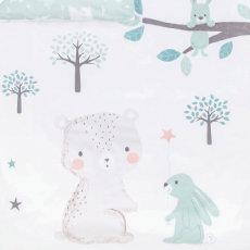 Bettwäsche mit Bär und Hase