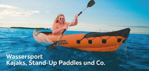 Wassersport  Kajaks, Stand-Up Paddles und Co.