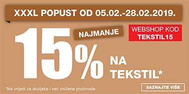 15% na tekstil u Lesnini