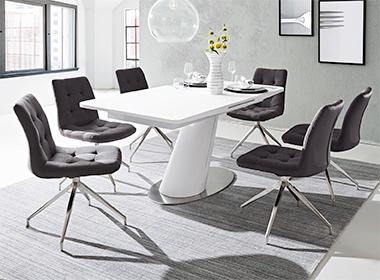 Moderan stol i stolice za blagovaonicu Lesnina XXXL