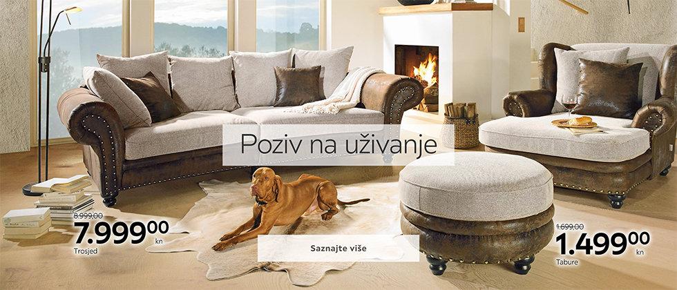 Udobna i moderna sjedeća garnitura Lesnina XXXL