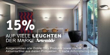15% auf viele Leuchten der Marke Artemide
