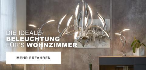 Die ideale Beleuchtung fuers Wohnzimmer