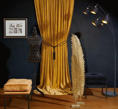 Safari Style Accessoires Vorhang Kleiderpuppe Ocker Orange Satin