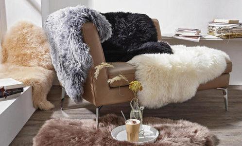 Für alle Felle Felle Kunstfell Tierfell Braun Weiß Wohnzimmer Esszimmer Herbst Winter