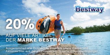 20% auf viele Artikel der Marke Bestway