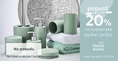20% popust na kupaonske tepihe i pribor Kleine Wolke