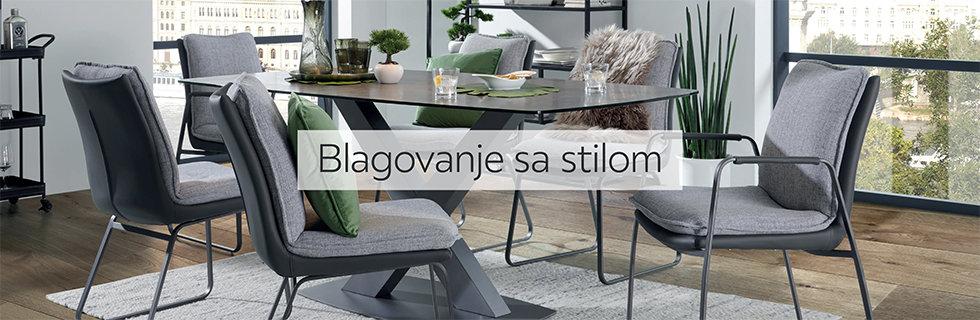 Elegantan stol za blagovaonicu i udobne stolice Lesnina XXXL
