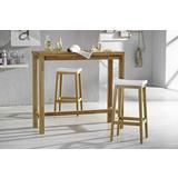 Drveni barski stol i dvije stolice